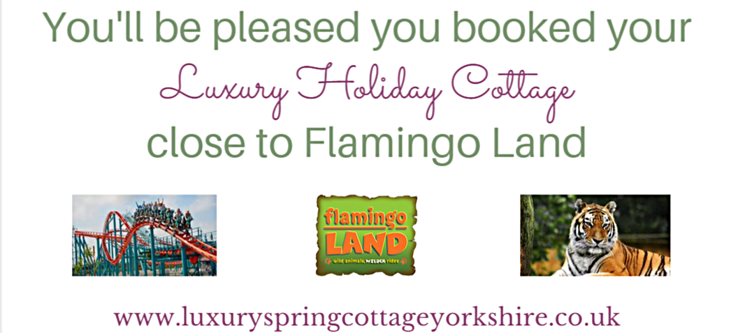 You'll be pleased you booked your luxury holiday cottage close to Flamingo Land
