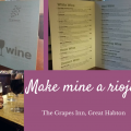 the wine list at The Grapes Great Habton