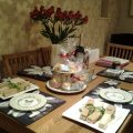 afternoon tea at a Yorkshire holiday cottage